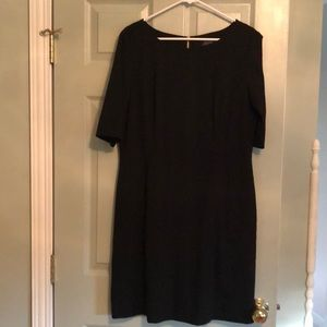 Tahari ASL Black Shift with 3/4 Sleeves